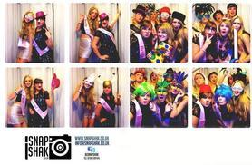 £199 for 3 hours' photobooth hire including 'unlimited' photos, digital copies and props, £799 for 7 hours with 200 photos and DJ hire from SnapShak - save up to 53%
