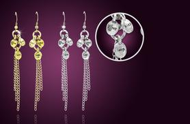£6 instead of £30 (from Cian Jewels) for a pair of silver or gold-coloured 'Live, Laugh, Love' dangle earrings, £10 for both - save up to 80%
