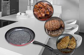 £19 instead of £49.99 for a George Foreman stone frying pan designed to reduce fat from Wowcher Direct - save 62%