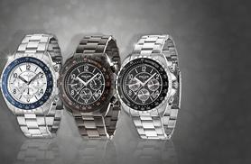 From £59.99 for a mens' Police chronograph watch from Wowcher Direct - choose from 3 designs & save up to 54%