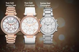 From £119 for a ladies' Michael Kors bracelet watch made with Swarovski Elements from Wowcher Direct - choose from six designs and save up to 50%