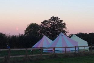 £129 (at Botany Camping) for 2 nights' luxury glamping in a bell tent for up to 5 people or £179 for 3 nights - save up to 36%