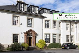 £69 (at Hetland Hall Hotel, Dumfries) for a 1-night break for 2 including a 2-course dinner and a glass of bubbly each, or £99 for 2 nights - save up to 52%