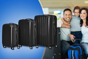 £79 instead of £199 (from Elegant Trading) for a three-piece hard shell travel luggage set - choose from two colours and save 60%
