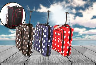 £13.99 for a 2-in-1 cabin approved hand luggage bag from Wowcher Direct - choose from 6 designs!