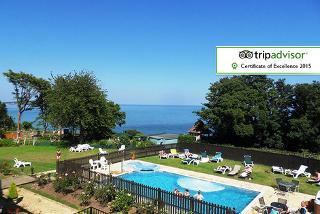 From £169 (at Luccombe Manor) for a two-night Isle of Wight break for two including a three-course dinner, breakfast, leisure access and return ferry - save up to 41%