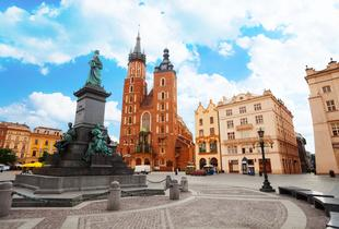 From £89pp instead of £131.65pp (from ClearSky) for a two-night Krakow break including flights and spa access, from £129pp for a three-night break - save up to 32%