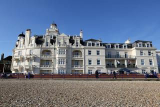 From £39 (at Shore View Hotel) for an overnight stay in Eastbourne for two inc. b'fast, £59 for four, from £69 for a two-night stay for two, £89 for four - save up to 59%