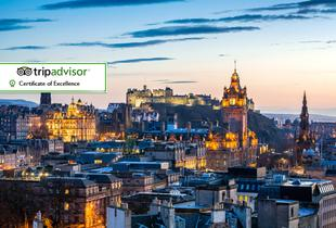 £89 for an overnight Edinburgh stay for two people including breakfast, a bottle of Prosecco and Champagne truffles at Brooks Hotel, Edinburgh - save up to 39%