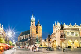 From £79pp (with Tour Center) for a two-night Krakow break with return flights and Auschwitz tour option, from £119pp for three nights - save up to 22%