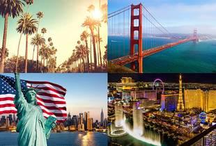 From £849pp for an eight-night New York, Las Vegas and Los Angeles and San Francisco break with all flights, or pay a £250 deposit today - save up to 65%