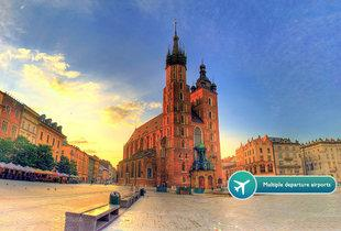 From £79pp instead of £120.48 (from ClearSky Holidays) for a two-night Krakow break including flights and spa access - choose from nine departure airports and save up to 34%