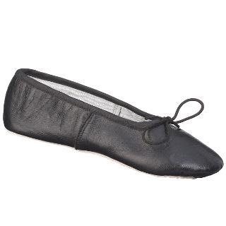 Buy John Lewis Leather Ballet Shoes, Black Online at johnlewis.com