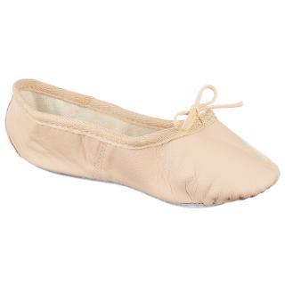 Buy John Lewis Leather Ballet Shoes, Salmon Online at johnlewis.com