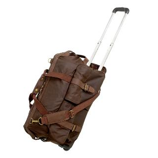 Buy Barbour Waxed Cotton 2-Wheel Holdall, Dark brown Online at johnlewis.com