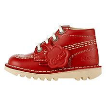 Buy Kickers Hi Boots, Red Online at johnlewis.com