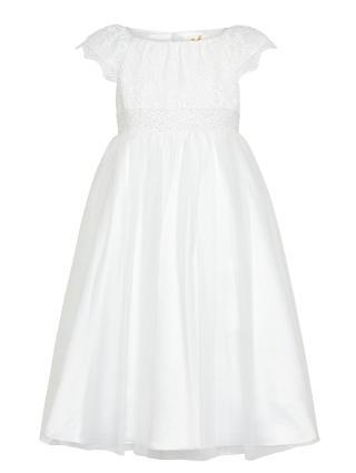 Buy John Lewis Girl Lace Mesh Bridesmaid Dress, Ivory Online at johnlewis.com