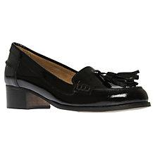 Buy Carvela Lexie Tassel Patent Leather Block Heel Loafers, Black Online at johnlewis.com