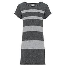 Buy Kin by John Lewis Girls' Knitted Striped Dress, Grey Online at johnlewis.com