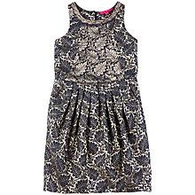 Buy Derhy Kids Annalisa Jaquard Dress, Gold/Navy Online at johnlewis.com