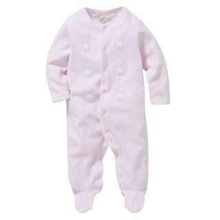 Buy John Lewis Bunny Velour Sleepsuit, Pink Online at johnlewis.com