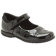 Buy Clarks Childrens' Breena Toes Shoes, Black Online at johnlewis.com