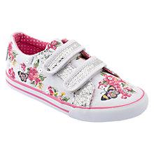 Buy Start-rite Children's Botancial Trainers, White/Multi Online at johnlewis.com