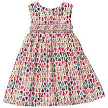 Buy Question Everything Girls' Balloon Print Hand Smocked Dress, Multi Online at johnlewis.com