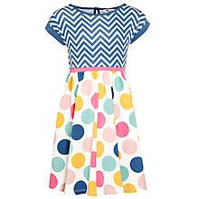 Buy John Lewis Girl Chevron & Polka Dot Dress, Multi Online at johnlewis.com