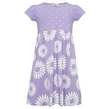 Buy John Lewis Girl Floral Jersey Dress, Mid Purple Online at johnlewis.com