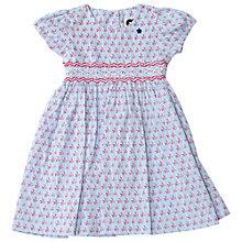 Buy Question Everything Girls' Swallow Print Hand Smocked Dress, Pale Blue Online at johnlewis.com