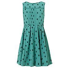 Buy John Lewis Girl Polka Dot Skater Dress, Green Online at johnlewis.com