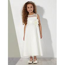 Buy John Lewis Girl Mesh Layer Bridesmaid Dress, Ivory Online at johnlewis.com
