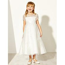 Buy John Lewis Girl Floral Detail Bridesmaid Dress, Ivory Online at johnlewis.com