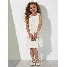 Buy John Lewis Girl Flippy Floral Applique Bridesmaid Dress, Ivory Online at johnlewis.com