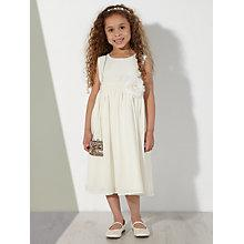 Buy John Lewis Girl Floral Corsage Flower Girl Dress, Ivory Online at johnlewis.com