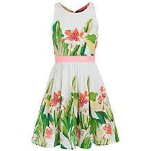 Buy Derhy Kids Girls' Capucine Floral Dress, White/Green Online at johnlewis.com