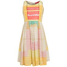 Buy Derhy Kids Girls' Candice Block Colour Dress, Yellow/Multi Online at johnlewis.com