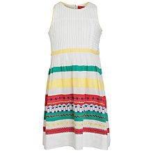 Buy Derhy Kids Girls' Ernestine Embroidered Stripe Dress, White/Multi Online at johnlewis.com