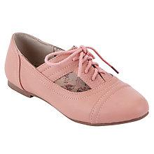 Buy John Lewis Girl Oprah Cut Out Shoes, Pink Online at johnlewis.com