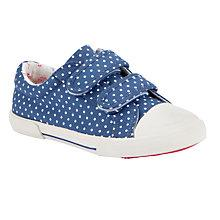 Buy John Lewis Girl Odelia Spot Canvas Trainers, Blue Online at johnlewis.com