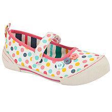 Buy John Lewis Ola Polka Dot Mary Jane Shoes, White/Multi Online at johnlewis.com