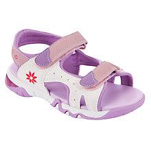Buy John Lewis Girl Orsina Light Trekker Sandals, Purple Online at johnlewis.com