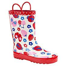 Buy John Lewis Girl Ladybird Wellington Boots, Red Online at johnlewis.com