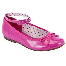 Buy John Lewis Girl Olive Strap Ballet Pumps, Berry Online at johnlewis.com