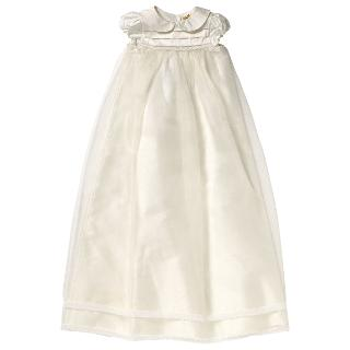 Buy John Lewis Pintuck Long Christening Gown, Cream Online at johnlewis.com