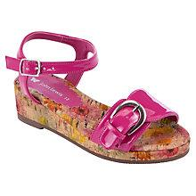 Buy John Lewis Girl Orly Flower Wedges, Pink Online at johnlewis.com