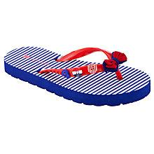 Buy John Lewis Girl Nautical Stripe Flip Flops, Blue/White Online at johnlewis.com