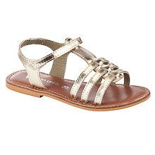 Buy John Lewis Girl Oriana Metallic Sandals Online at johnlewis.com