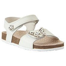 Buy John Lewis Girl Oriole Butterfly Sandals, White Online at johnlewis.com